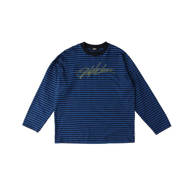 SNATCHER border T-shirt / BLUE - メイン画像