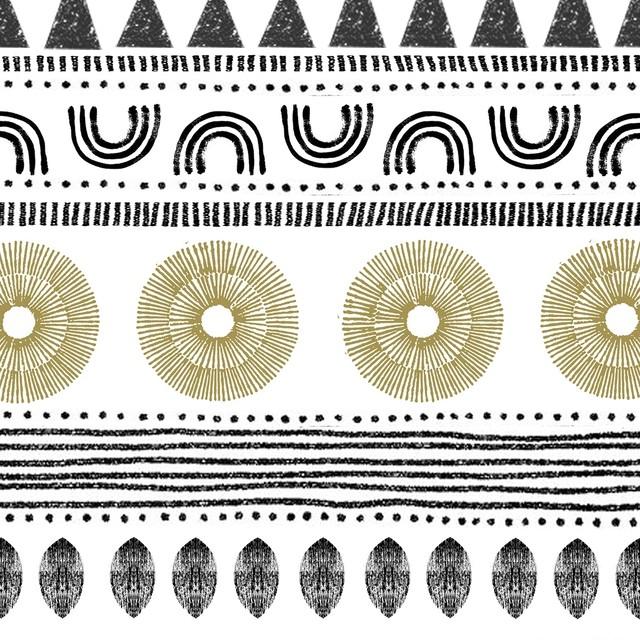 【Paperproducts Design】バラ売り2枚 ランチサイズ ペーパーナプキン Ethno Style ナチュラル