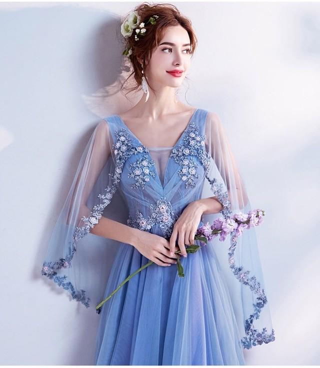 サイズ豊富★ 新作 インポート ボレロ付き カラー ウェディングドレス