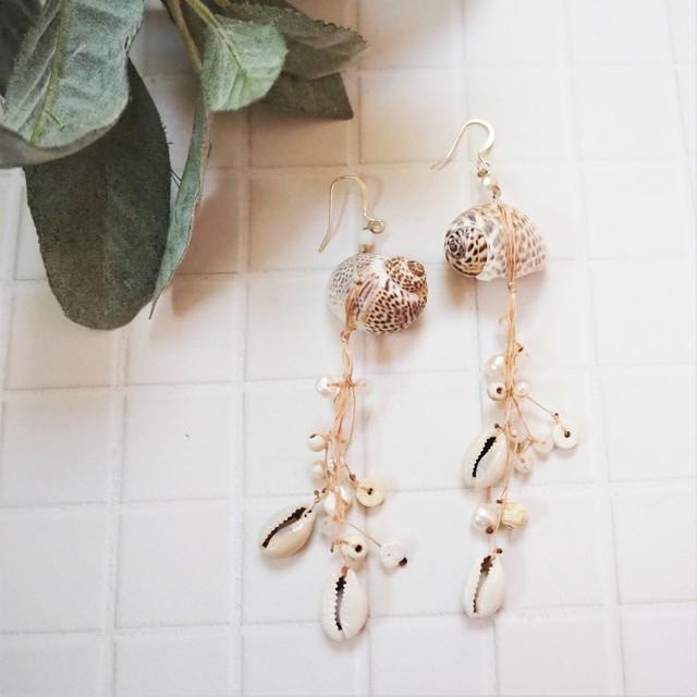 Shell Pierced Earring《PNK》18385087
