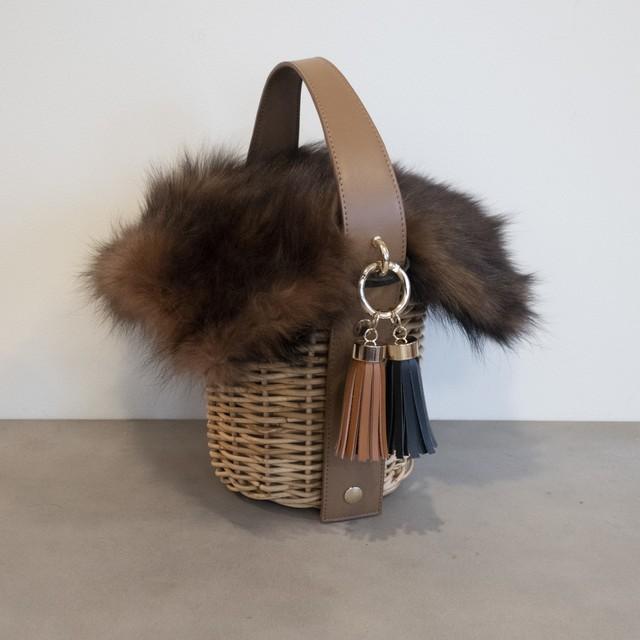 【Fur-Pillar-Large 】 Brown