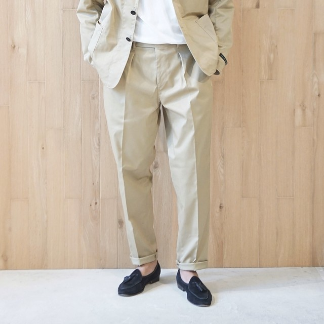 COLONY CLOTHING / TECH ONE PLEATED PERENNIAL TROUSERS / CC20FW-PT04(SALE)