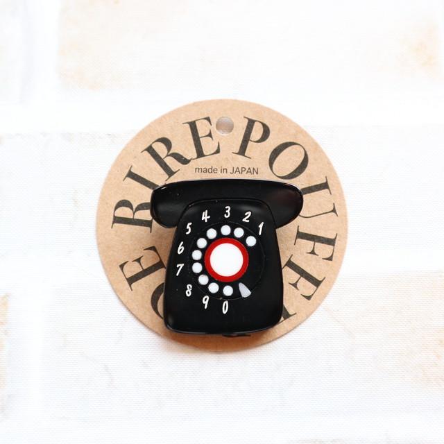 unpetit(アンペティット)  黒電話バッジ