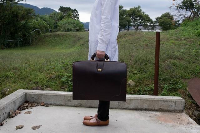 ブライドルレザーのドクターズバッグ