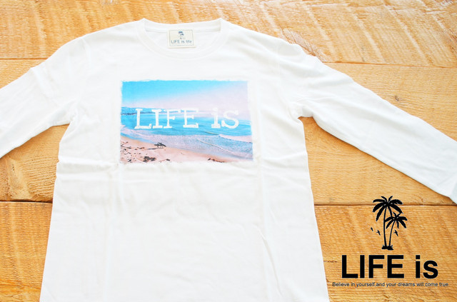 LIFE is フォト長袖Tシャツ(white) ¥3500+tax