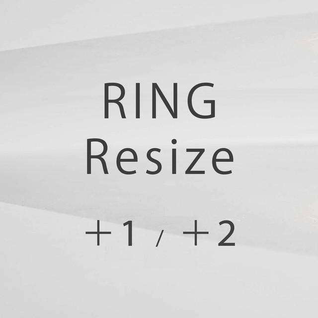 【リングサイズ変更 UP】(+1号、+2号)