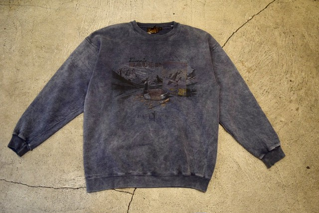USED 80s Eddie Bauer print sweat -Large S0646