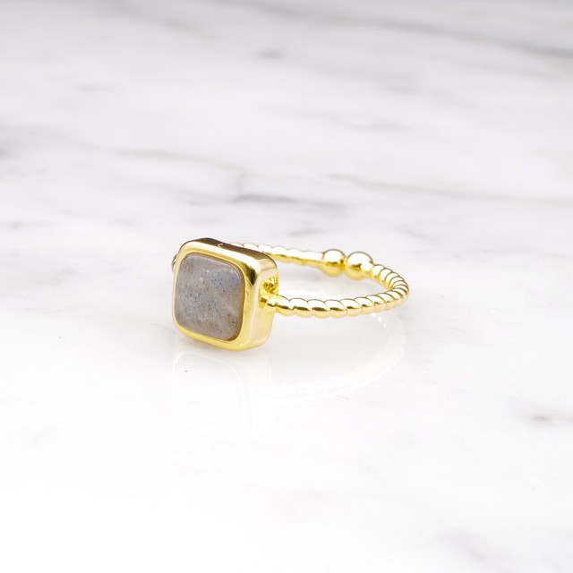 SINGLE MINI STONE RING GOLD 086