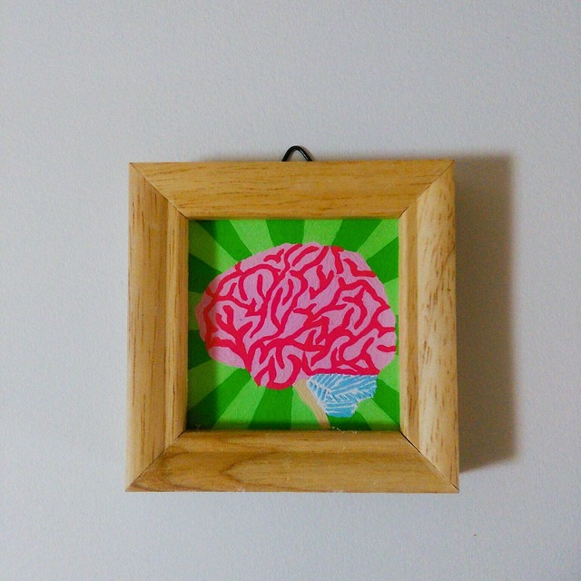 Brain / 脳 / 50mm×50mm / Acrylic painting / Original Drawing