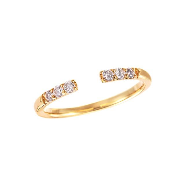 K18YGダイヤモンドリング 010201009040