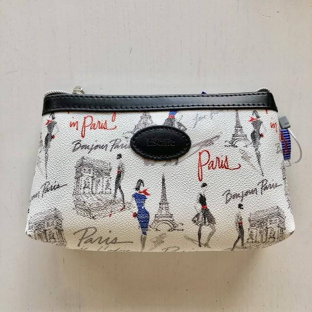フランス製 ロワイヤルの化粧ポーチ  Bonjour Paris ボンジュールパリ