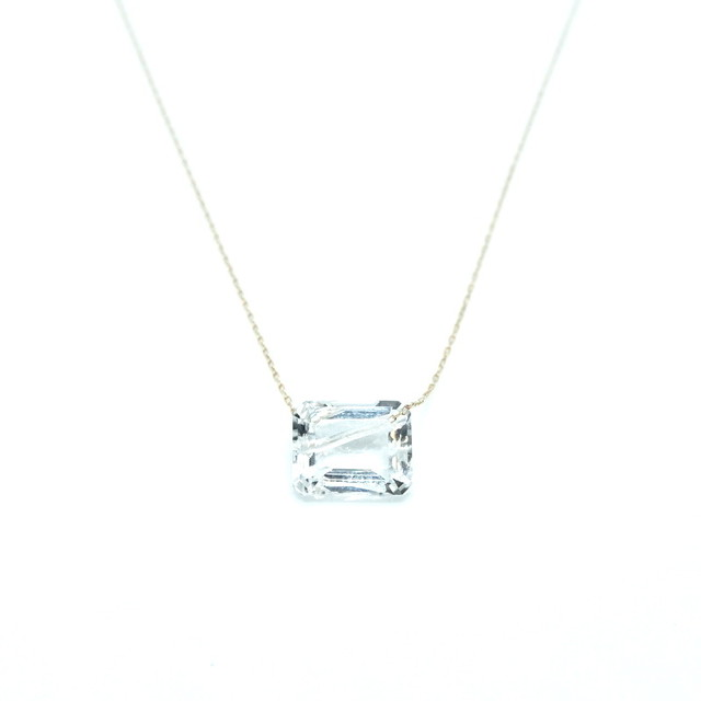 Holey stone Necklace White topaz - K18YG