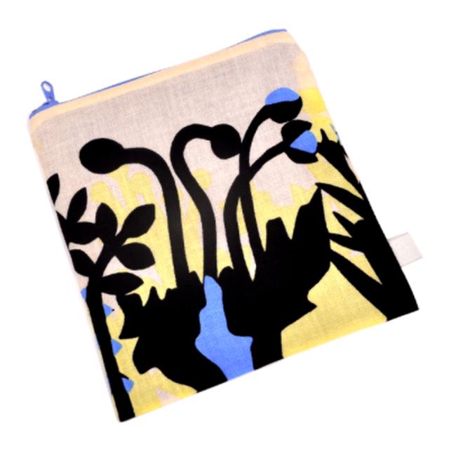 【マスクケースにオススメ】ひびのこづえ ファスナーポーチ(S) / 花々 京友禅浸透染 綿100% 日本製