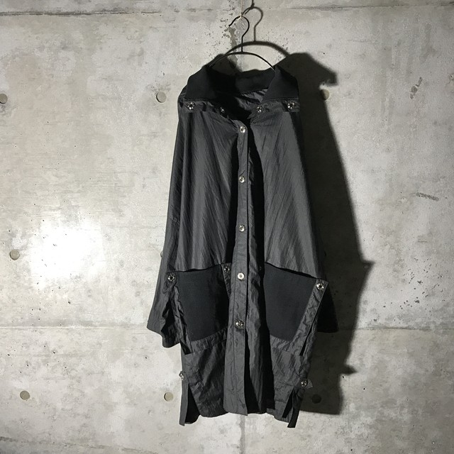 [used] transformed silhouette black coat