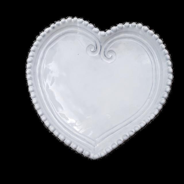 Dot scallop heart plate /  ドットスカラップハートプレート