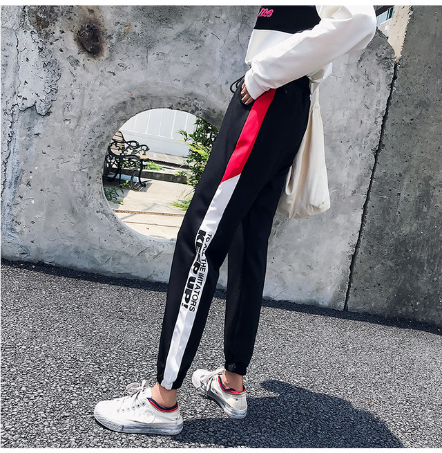 【bottoms】ストリート系個性デザイン2色パンツ