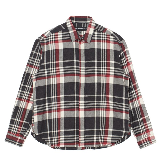 CHECK FLY FRONT SHIRT - RED