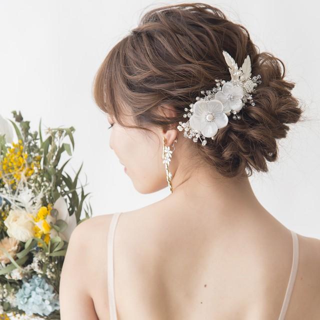 <A Little Romance>Shell dalia flower ヘッドドレス