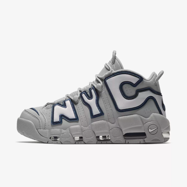 NIKE AIR MORE UPTEMPO NYC Empire City QS WOLF GREY/MIDNIGHT NAVY/WHITE