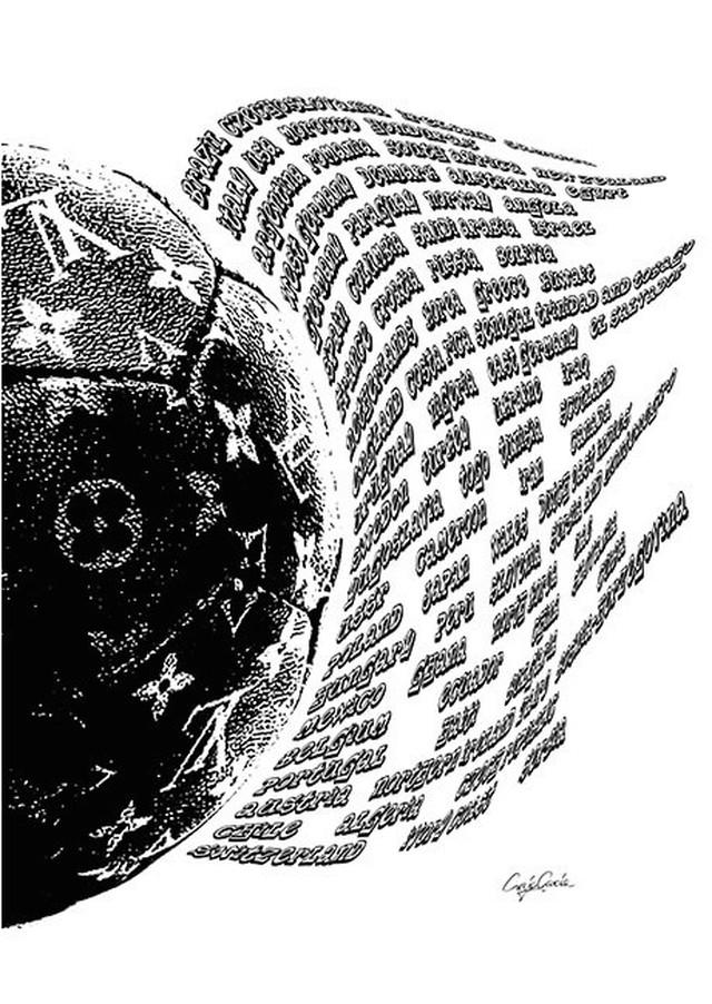 Craig Garcia 作品名:LV Soccer world 03 A4キャンバスポスター【商品コード: cglsw03】