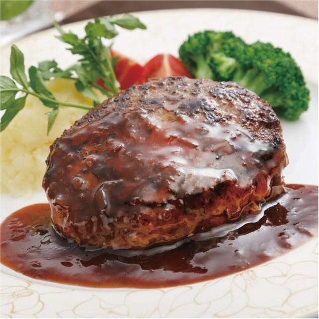 落合務監修 牛肉100%ハンバーグ&黒トリュフソース