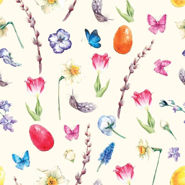 入荷しました|2020春夏【Paper+Design】バラ売り2枚 ランチサイズ ペーパーナプキン EASTER GALORE クリーム