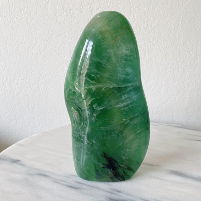 フローライト グリーン 天然石 ヒーリングインテリア