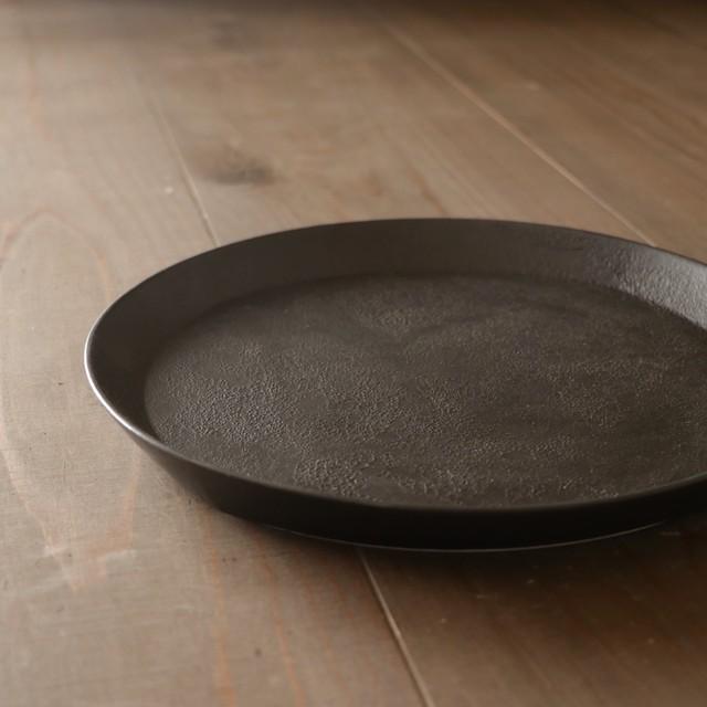黒泡 24cmプレート  Black foam 24cm plate