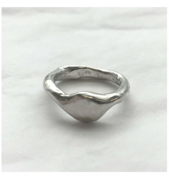 W SIGNET Ring Silver
