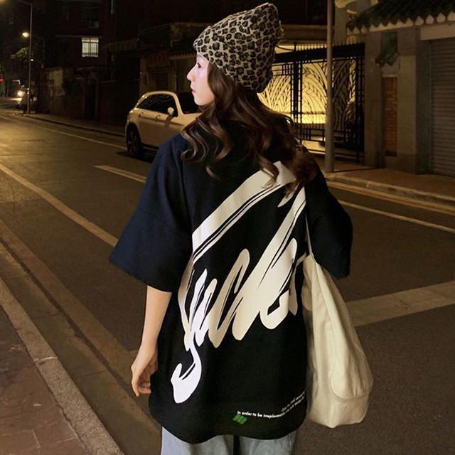 【トップス】韓国系半袖ラウンドネックプルオーバーTシャツ32134159