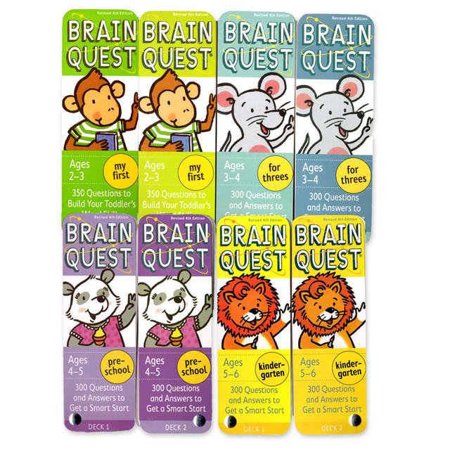 英語クイズ1250問!「Brain Quest」4セット