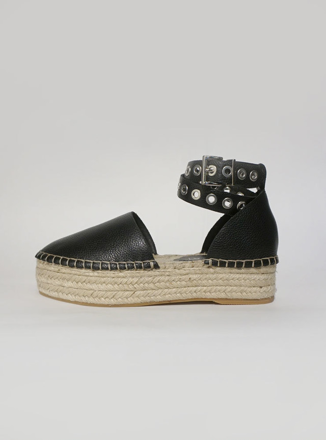 SOL SANA Lizzie Espadrilles in Leather ブラック