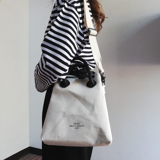 20/80(CANVAS #6 DRAWSTRING 2WAY TOTE BAG)