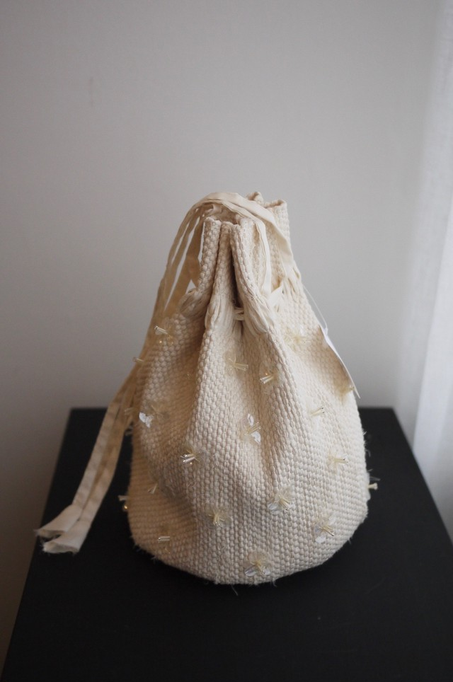 oru weaving bag ビーズ巾着