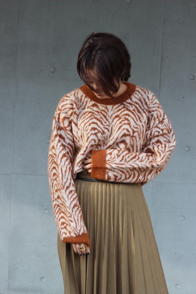 【SAYAKADAVIS】zebra jacquard sweater