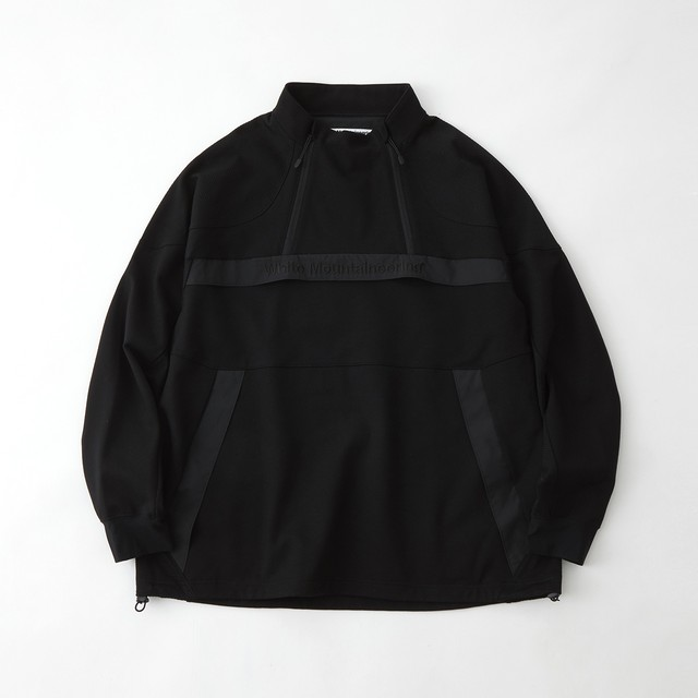 W ZIPPED LOGO PULLOVER - BLACK
