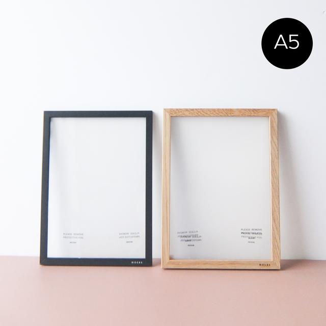 MOEBE - A5 ムーべ アートフレーム - Pale Rose / Light Grey / Black / Oak