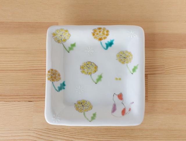 三毛猫みーちゃん(春) 角皿