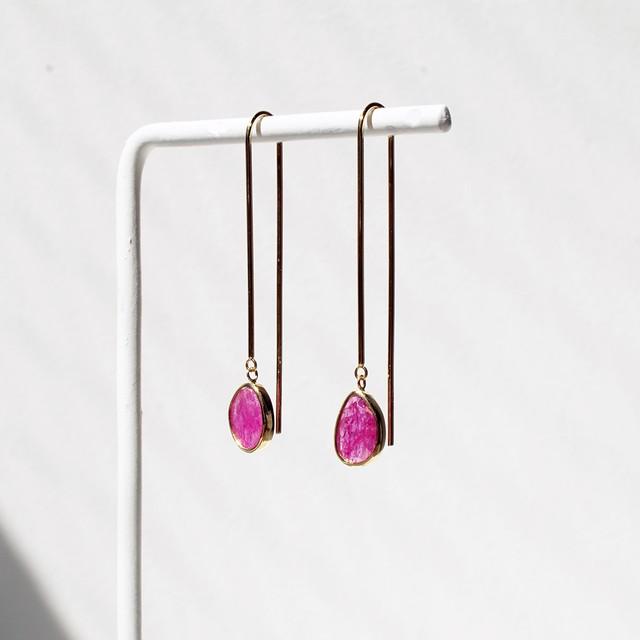 DOVER Ruby Pierced Earring / Pair(CE006-RU)