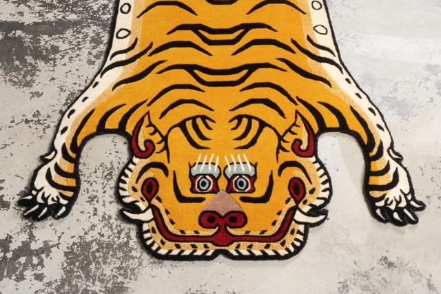 Tibetan Tiger Rug 《Lサイズ•ウール053》チベタンタイガーラグ