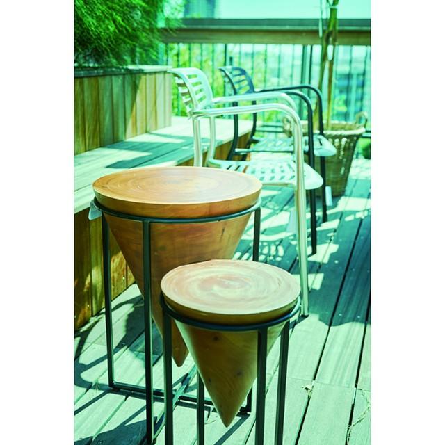 Madera Iron Side Table 2 Types / 北欧ナチュラルスタイル アイアン 木製サイドテーブル