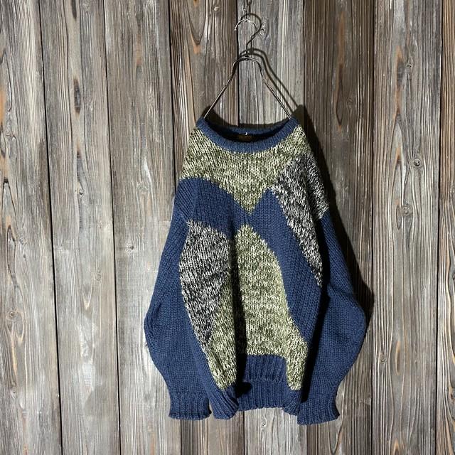 [used]crazy pattern knit