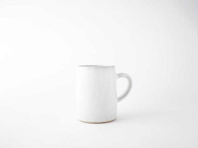 平清水焼 青龍窯|残雪 マグカップ角・大