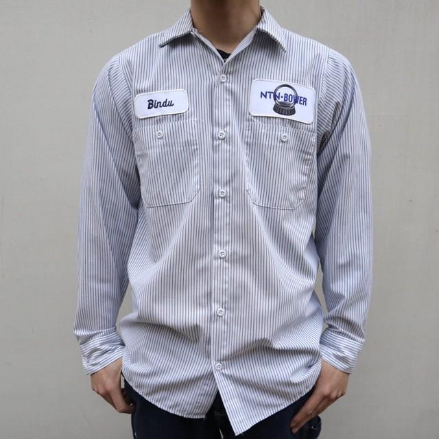 stripe work design shirt