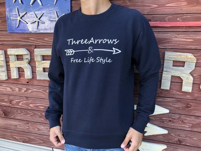 ThreeArrowsロゴ スウェット(navy)