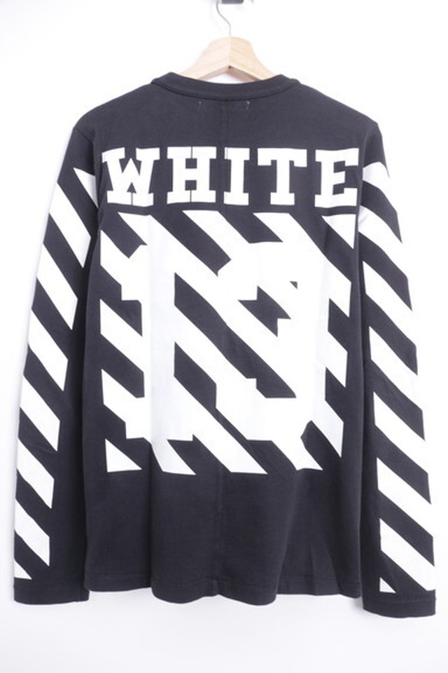 OFF-WHITE DIAG NUMBERING LS TEE BLACK XS 40JH8155
