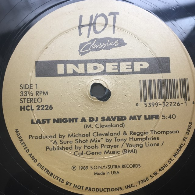 Indeep / Denroy Morgan ‎– Last Night A DJ Saved My Life / I'll Do Anything For You