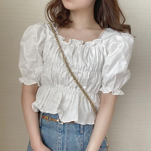 gather puff blouse[7/22n-6]