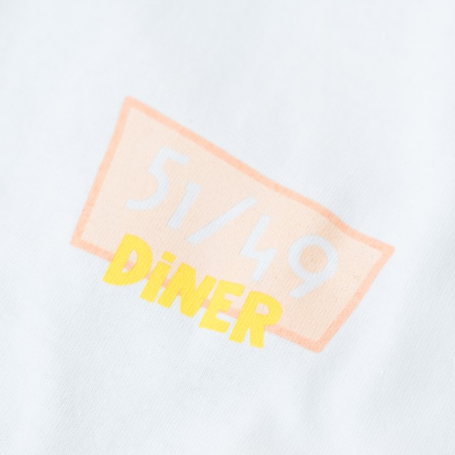 51/49 DINER(Fifty one Forty nine DINER)6.0oz L/S(WHITE)
