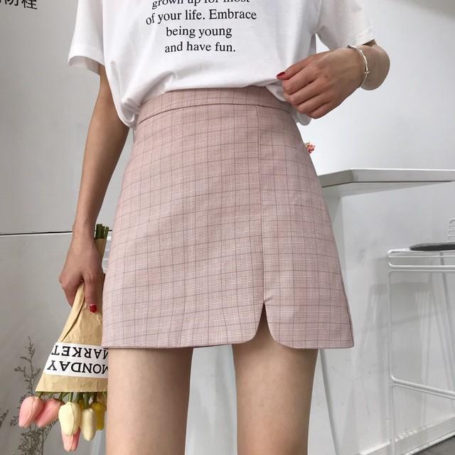 シャドークロス柄スカート
